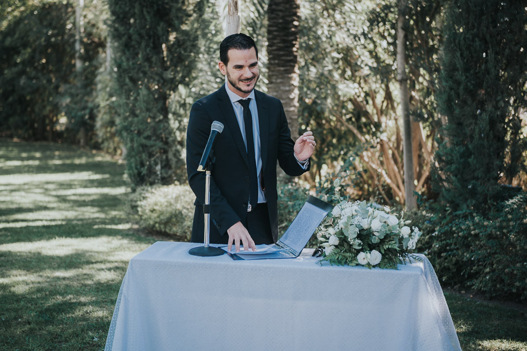 Carpe fotografía, ceremonia civil, Parador de la Arruzafa, Parador de Córdoba, Bodas en Córdoba, Fotógrafos de Córdoba, fotografía de boda, Bodas en el parador de la arruzafa, Boda civil córdoba, discurso